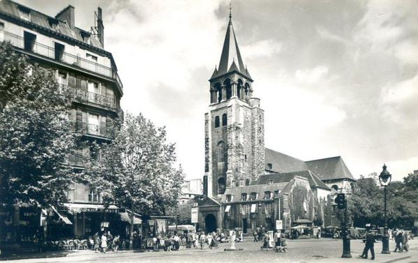1950 clocher de Saint-Germain-des-Prés