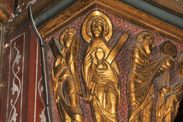 Sculpture ornant les chapiteaux de Saint-Germain-des-Prés